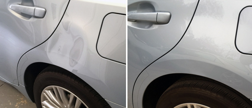 Dent Removed in 2013 Lexus ES 320