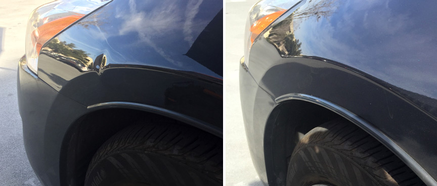 Removal of Dent on 2015 Toyota Corolla